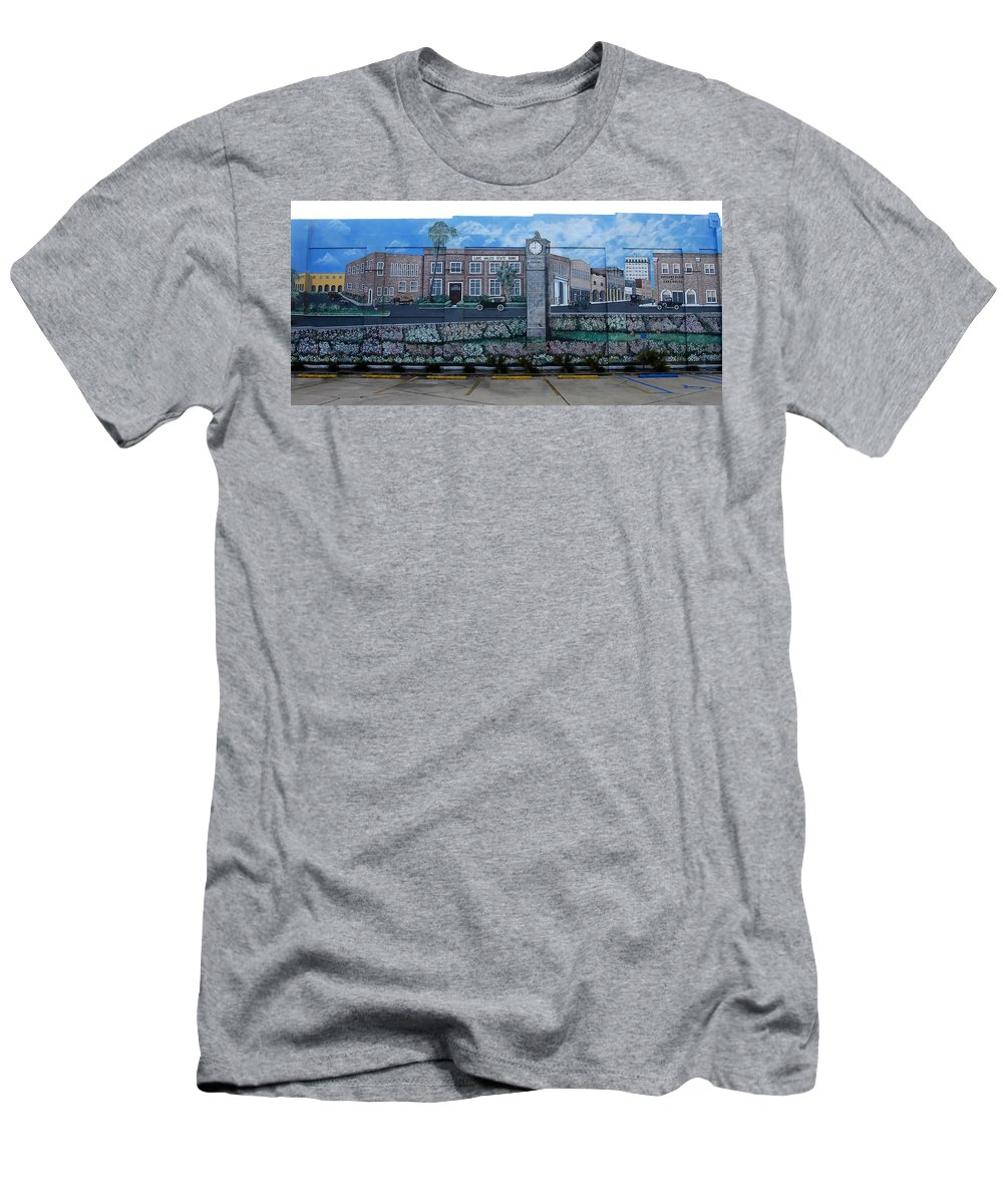 Photography Men's T-Shirt (Athletic Fit) featuring the photograph Lake Wales Florida Mural by David Lee Thompson