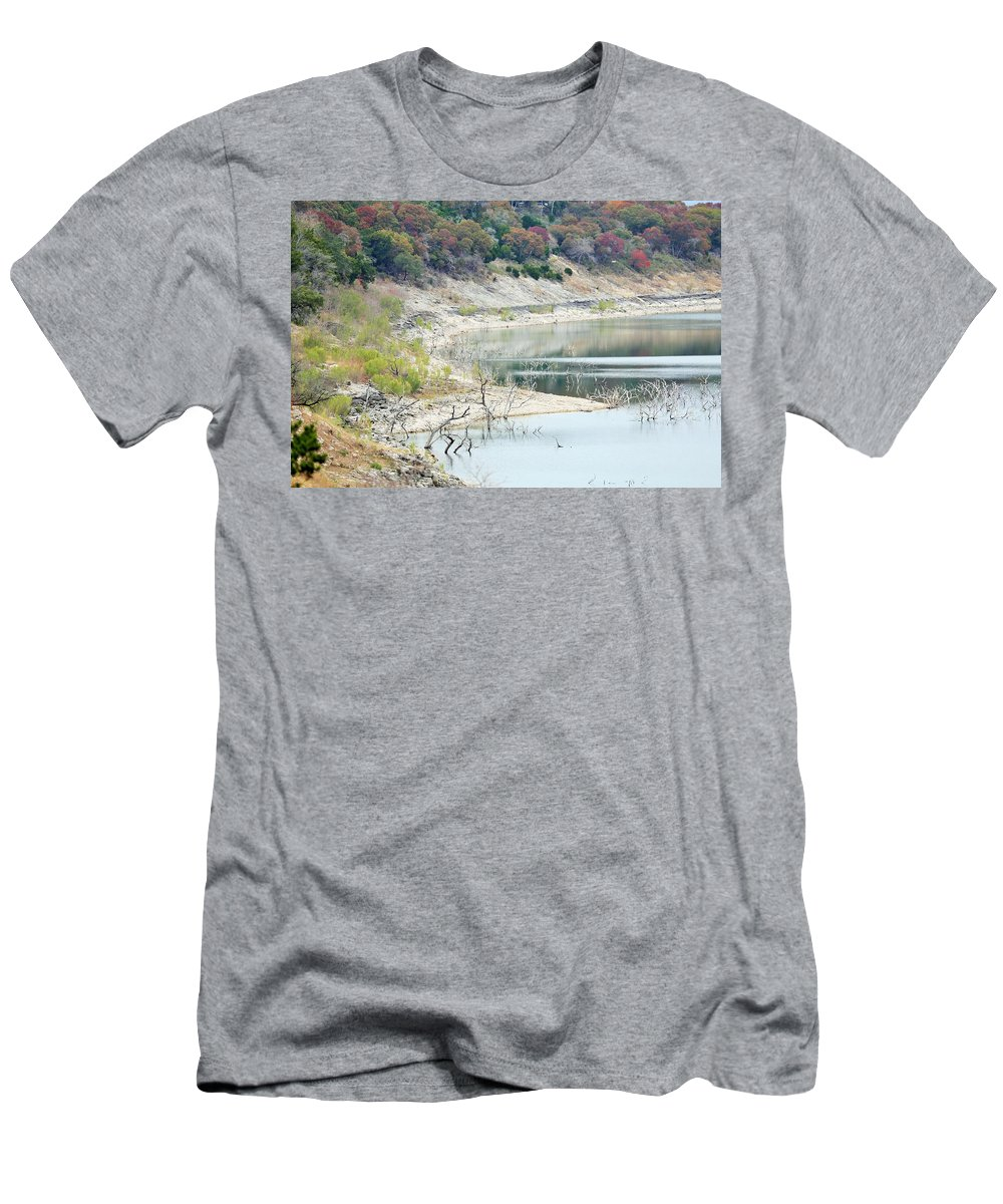 Men's T-Shirt (Athletic Fit) featuring the photograph Lake022 by Jeff Downs
