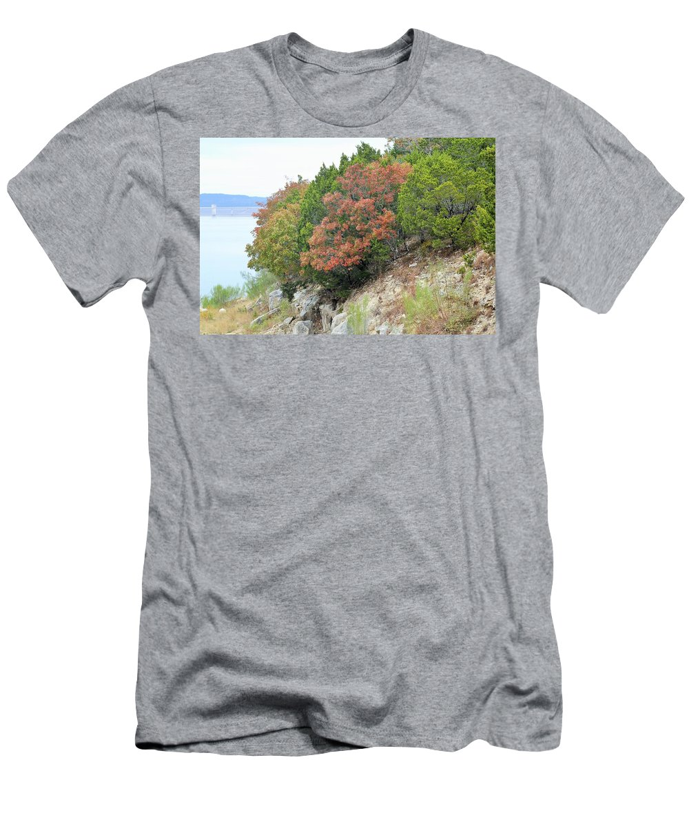 Men's T-Shirt (Athletic Fit) featuring the photograph Lake034 by Jeff Downs