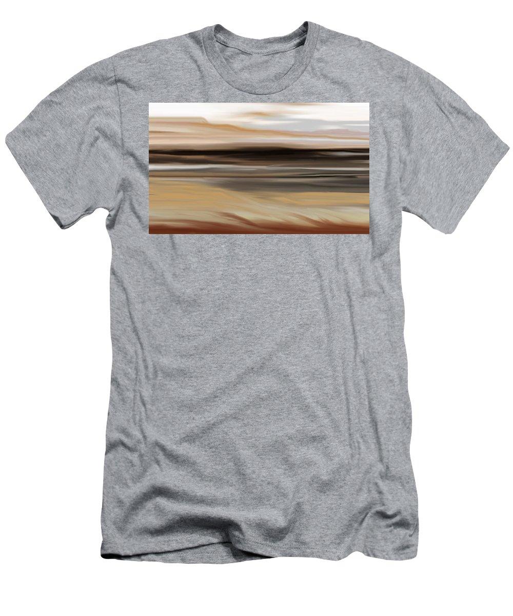 Landscape Men's T-Shirt (Athletic Fit) featuring the digital art Landscape 103010 by David Lane