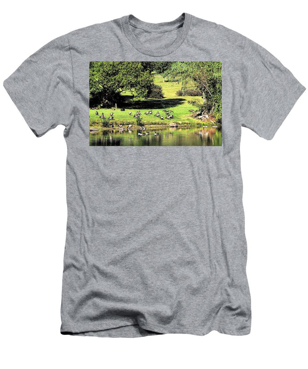 Bird Men's T-Shirt (Athletic Fit) featuring the photograph Last Days Of Summer by Gaby Swanson