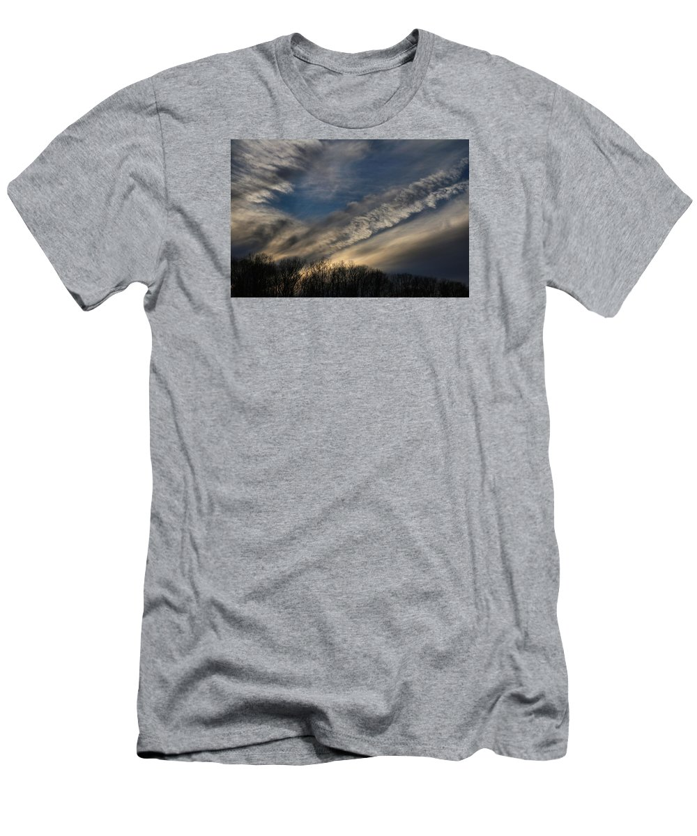 Sky Men's T-Shirt (Athletic Fit) featuring the photograph Late Afternoon Sky by Kathryn Meyer