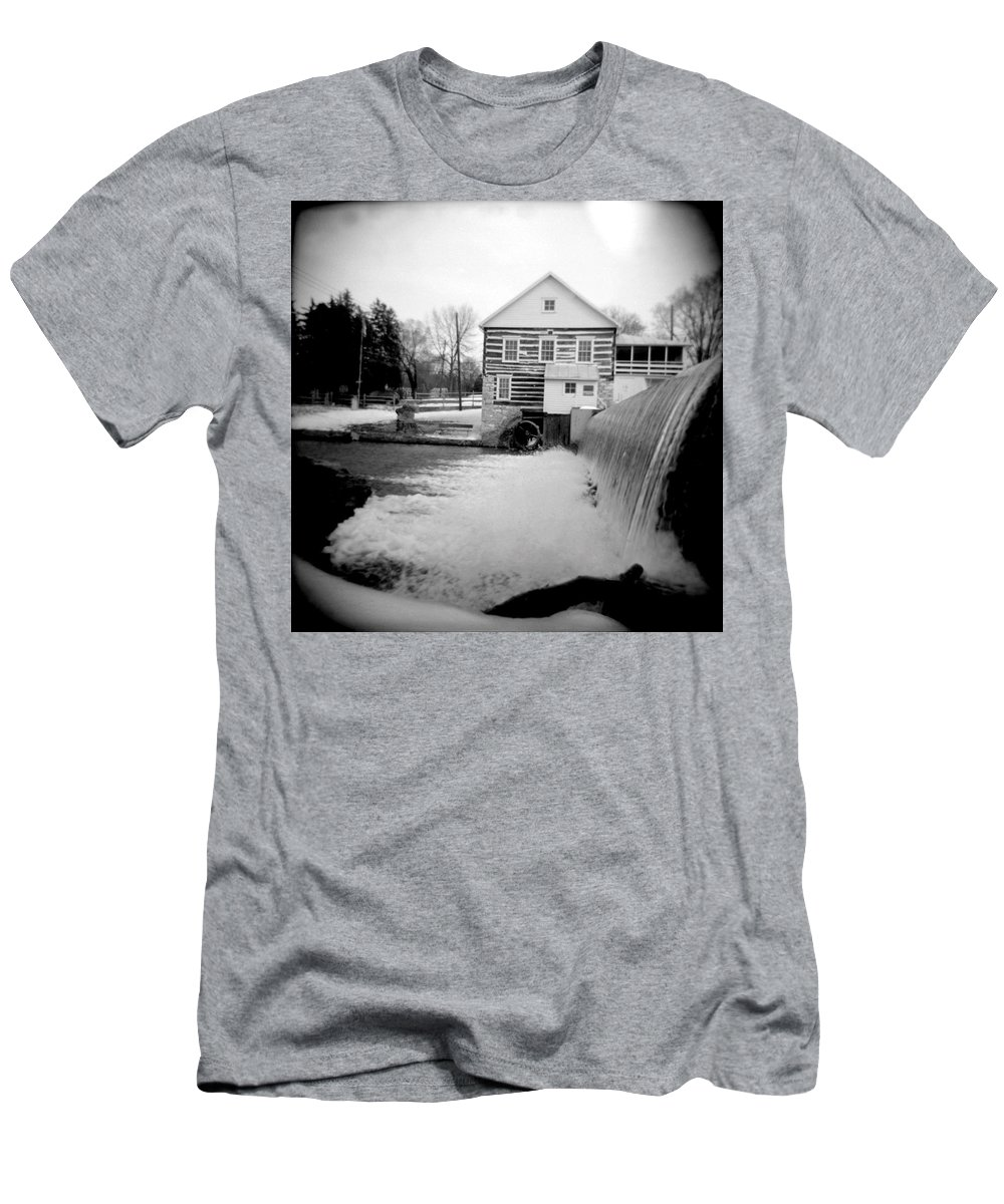 Photograph Men's T-Shirt (Athletic Fit) featuring the photograph Laughlin Mill by Jean Macaluso