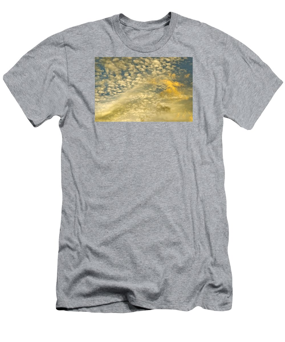 Sky Men's T-Shirt (Athletic Fit) featuring the photograph Layers Of Sky by Wanda Krack