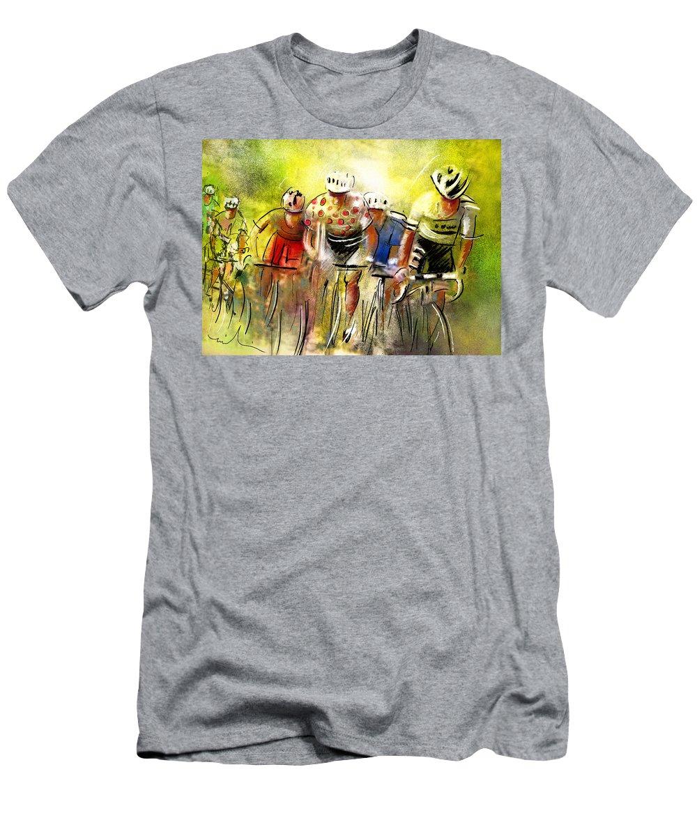 Sports Men's T-Shirt (Athletic Fit) featuring the painting Le Tour De France 07 by Miki De Goodaboom