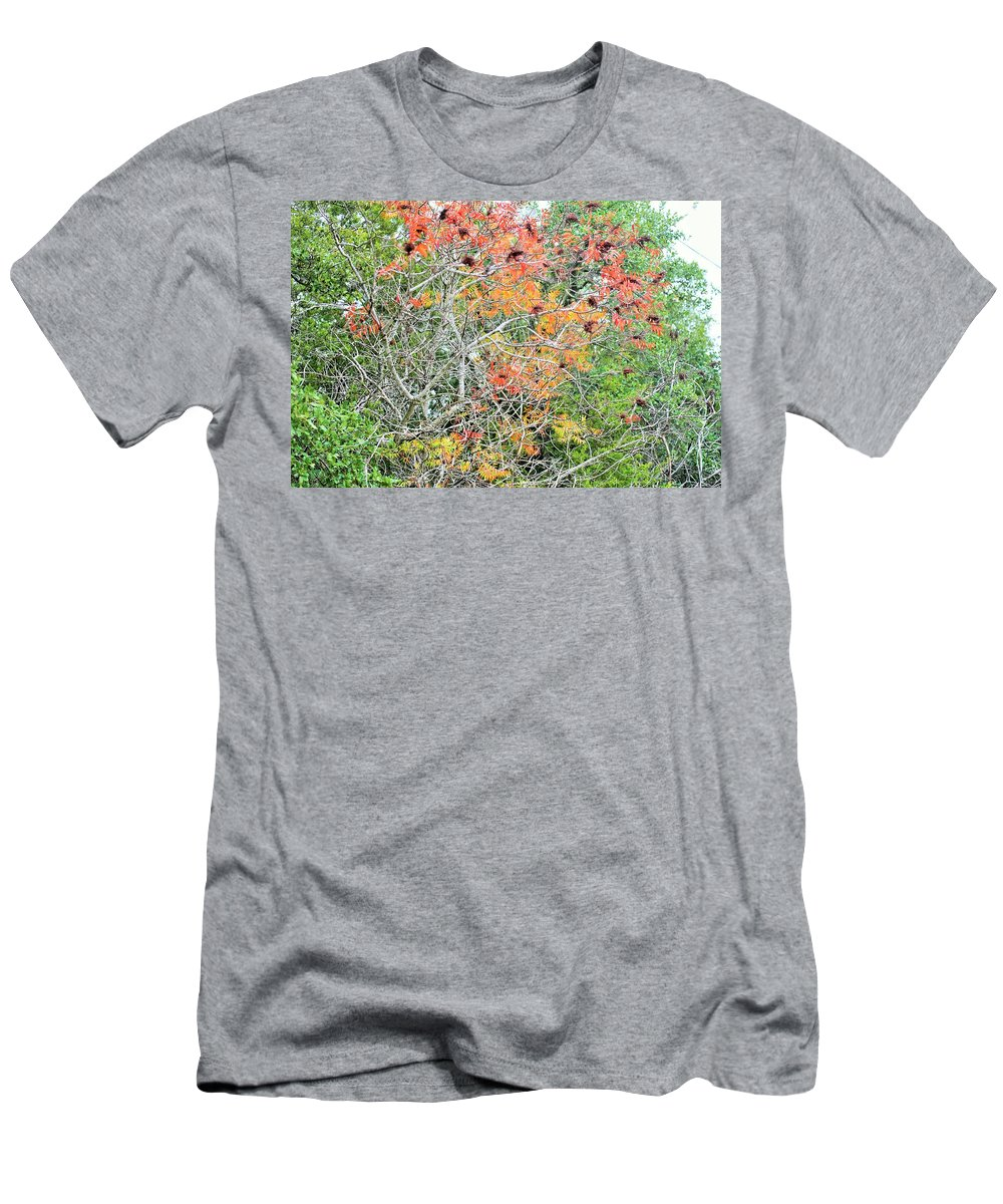 Men's T-Shirt (Athletic Fit) featuring the photograph Leafs 003 by Jeff Downs