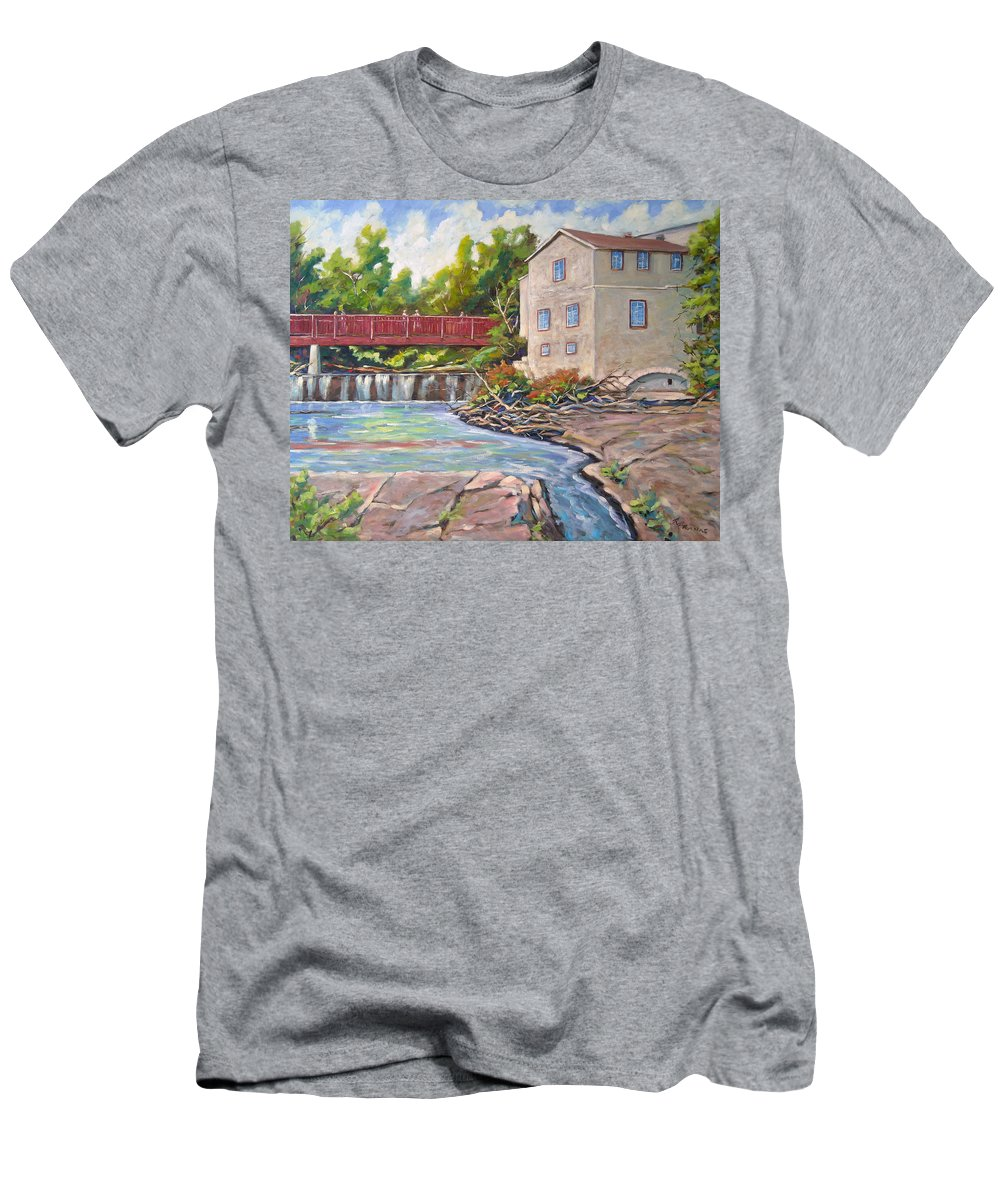 Mill Men's T-Shirt (Athletic Fit) featuring the painting Legare Mill by Richard T Pranke