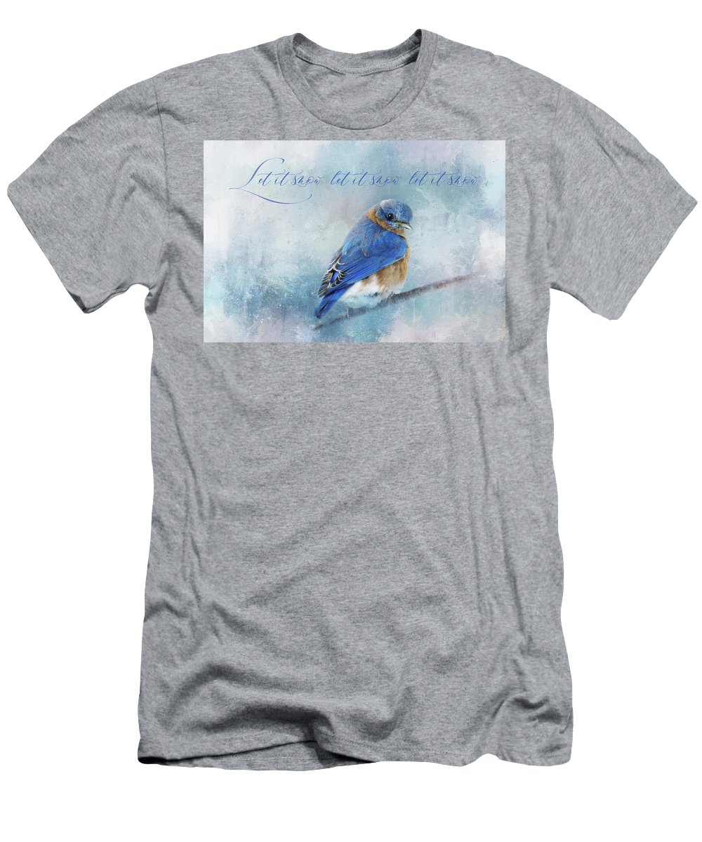 Photography Men's T-Shirt (Athletic Fit) featuring the digital art Let It Snow by Terry Davis