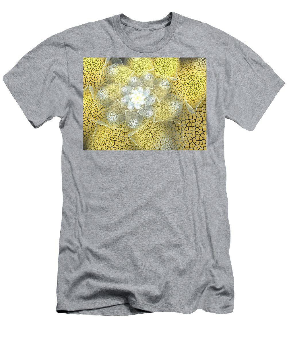 Fractal Men's T-Shirt (Athletic Fit) featuring the digital art Let The Sunshine by Amorina Ashton