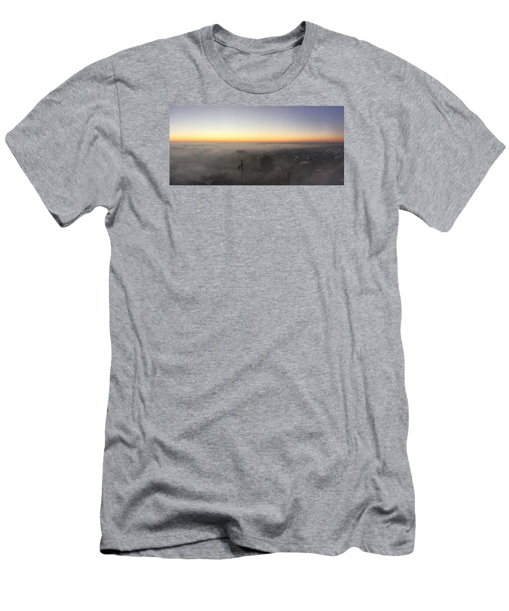 Lex Men's T-Shirt (Athletic Fit) featuring the photograph Lex Skyline by Michael Sweeney