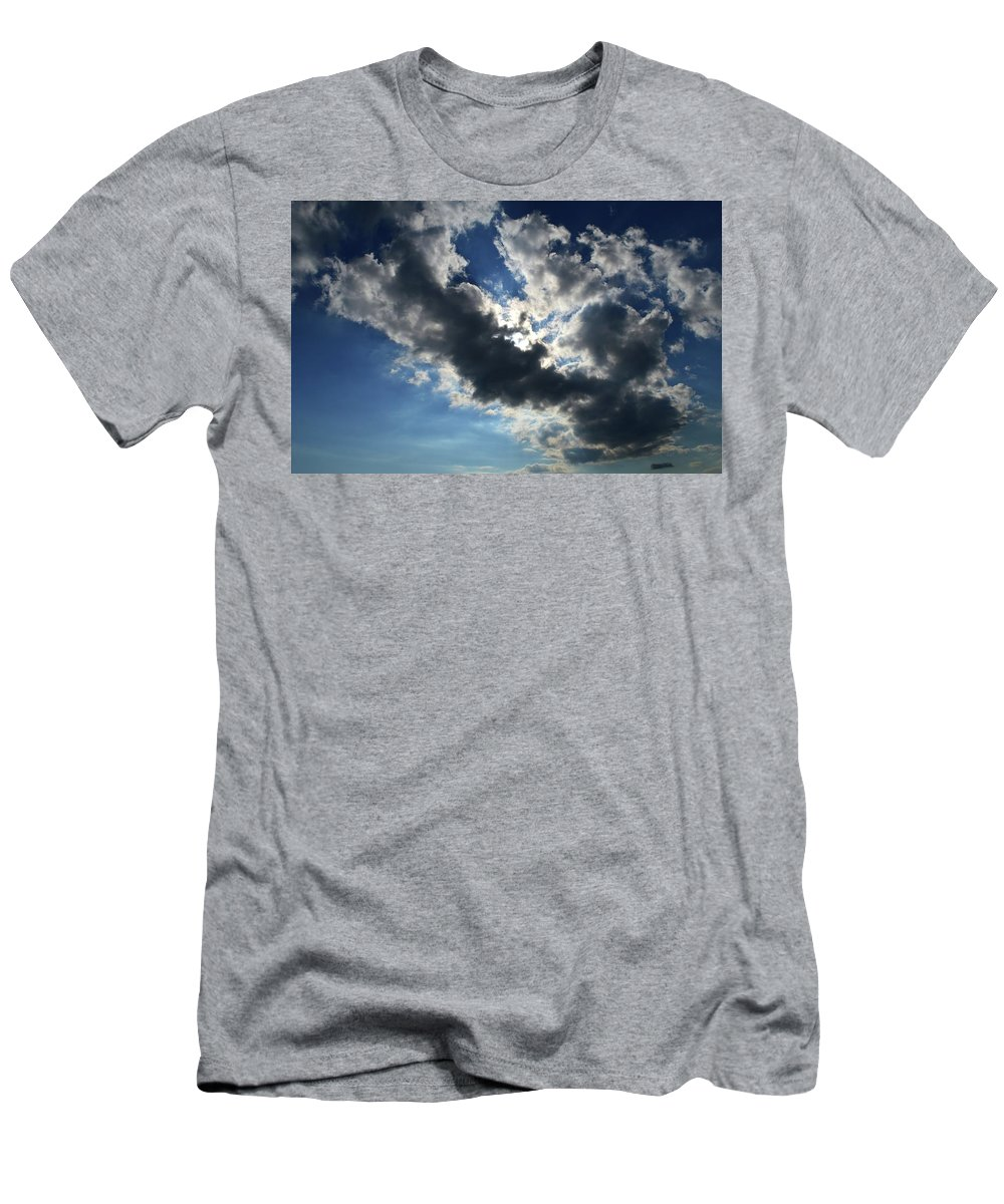 Abstract Men's T-Shirt (Athletic Fit) featuring the photograph Light And Dark Cloud by Lyle Crump