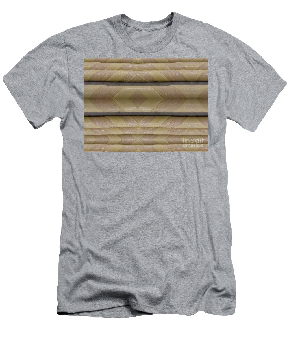Abstract Men's T-Shirt (Athletic Fit) featuring the digital art Light Pole Wrap by Ron Bissett