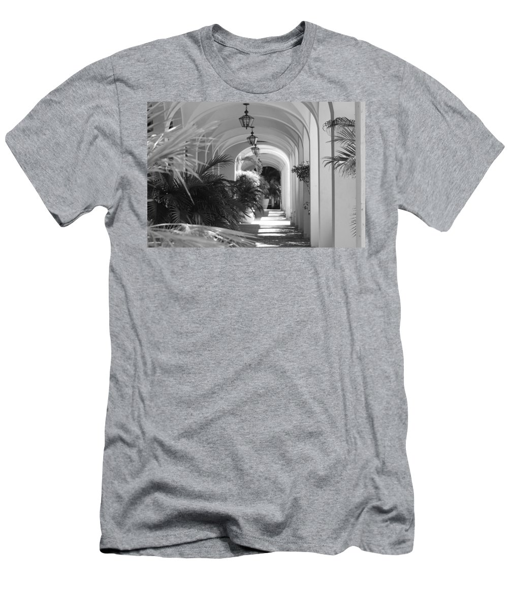 Architecture Men's T-Shirt (Athletic Fit) featuring the photograph Lighted Arches by Rob Hans