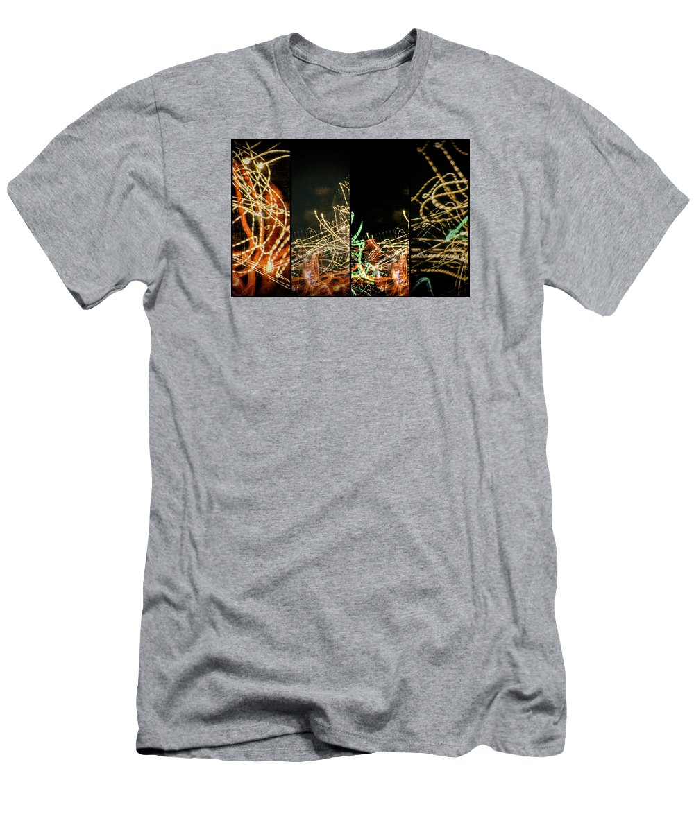 Lightpainting Quad Men's T-Shirt (Athletic Fit) featuring the photograph Lightpainting Quads Art Print Photograph 5 by John Williams