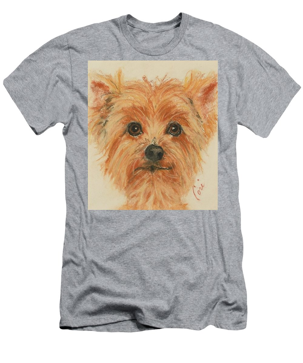 Pastel Men's T-Shirt (Athletic Fit) featuring the drawing Lil Rascal by Cori Solomon