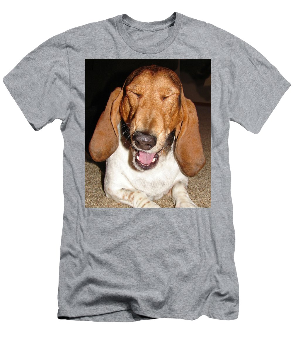 Basset Hound Men's T-Shirt (Athletic Fit) featuring the photograph Lillard by Heather Coen