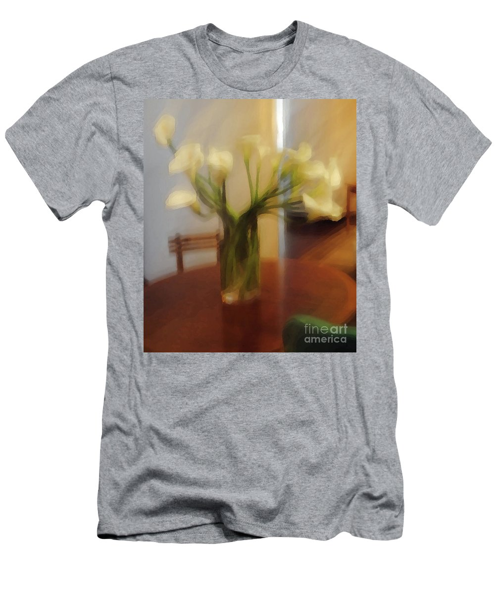 Lilly Men's T-Shirt (Athletic Fit) featuring the photograph Lillies On The Table by Jost Houk