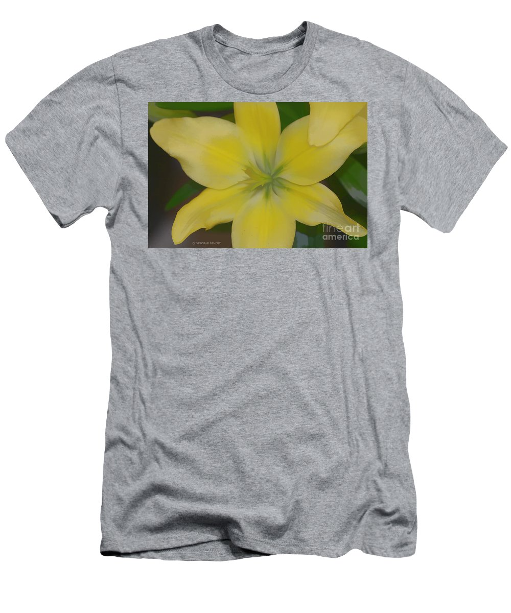 Lilly Men's T-Shirt (Athletic Fit) featuring the photograph Lilly With Artistic Beauty by Deborah Benoit
