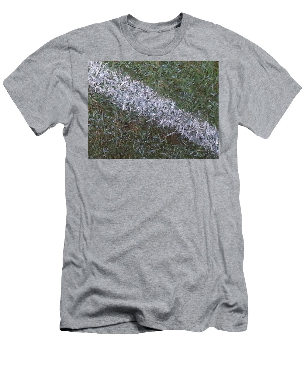 Grass Men's T-Shirt (Athletic Fit) featuring the photograph Line In The Grass by Donna Riordan