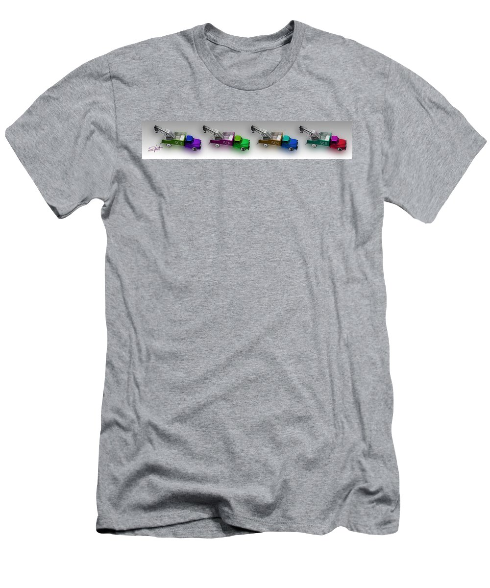 Toy Men's T-Shirt (Athletic Fit) featuring the photograph Line Truckin by Charles Stuart