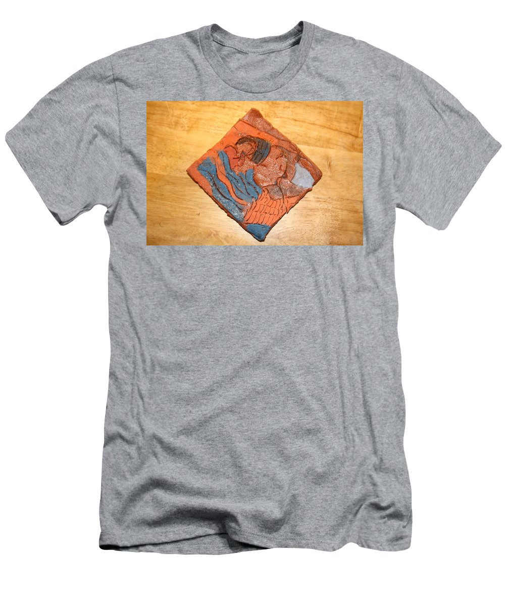 Jesus Men's T-Shirt (Athletic Fit) featuring the ceramic art Lines - Tile by Gloria Ssali