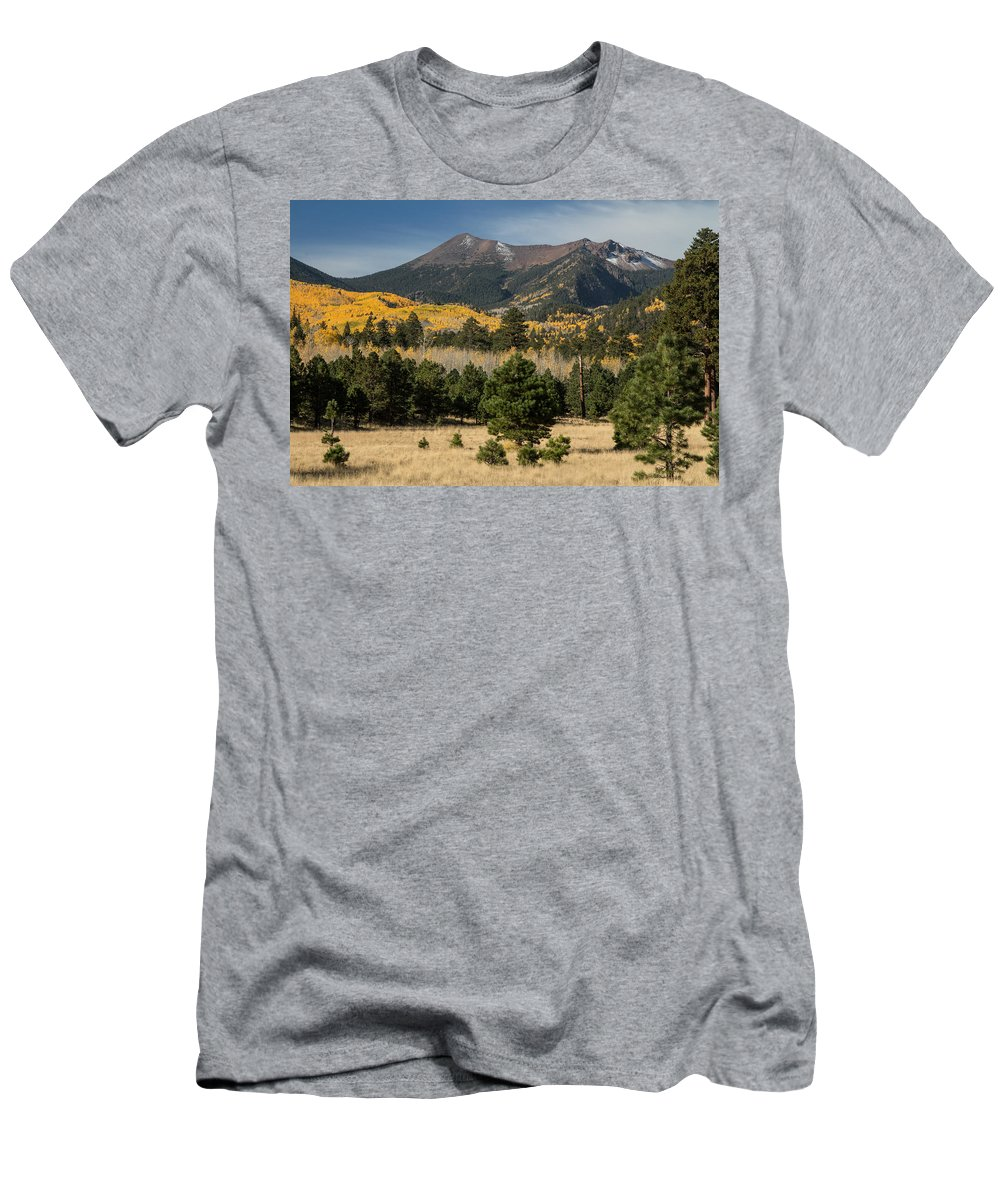 Fall Men's T-Shirt (Athletic Fit) featuring the photograph Lockett Meadow Autumn by Susan Westervelt