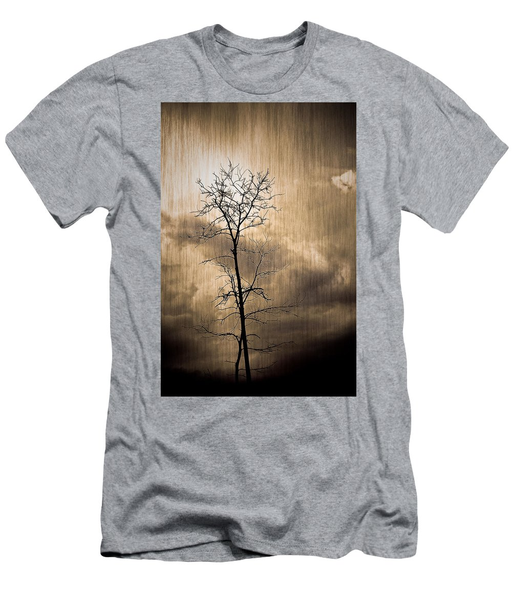 Charuhas Men's T-Shirt (Athletic Fit) featuring the photograph Lone Survivor by Charuhas Images