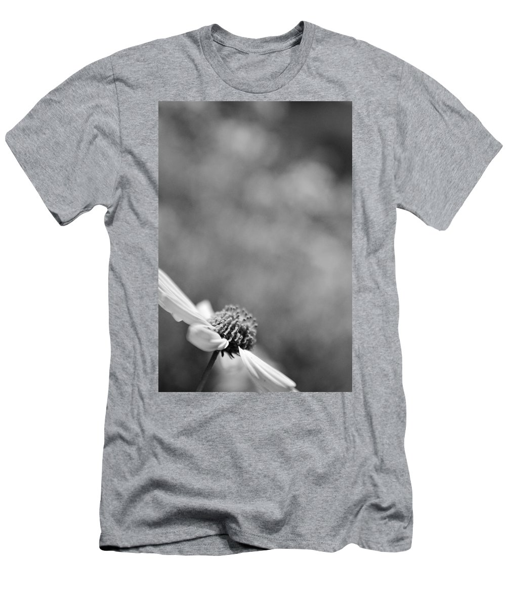 Black And White Men's T-Shirt (Athletic Fit) featuring the photograph Lone Wildflower Black And White by Jill Reger