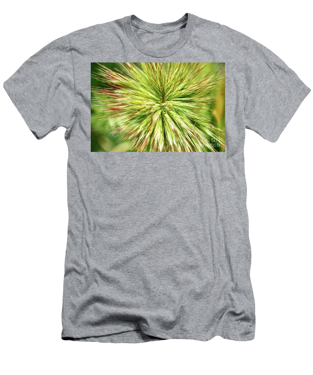 Grass Men's T-Shirt (Athletic Fit) featuring the photograph Looking Into The Unknown by Mariola Bitner