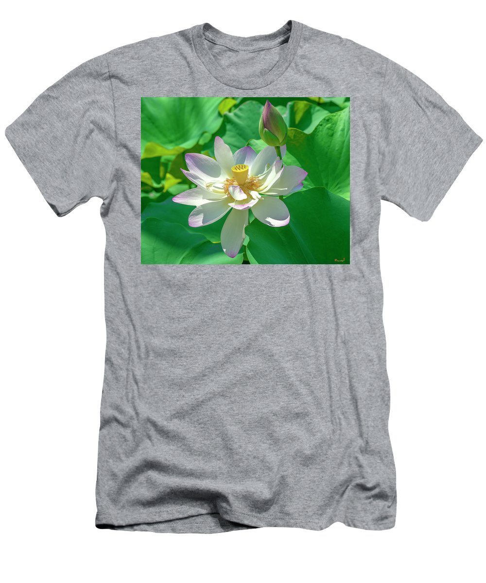 Lotus Men's T-Shirt (Athletic Fit) featuring the photograph Lotus--fading I Dl0079 by Gerry Gantt