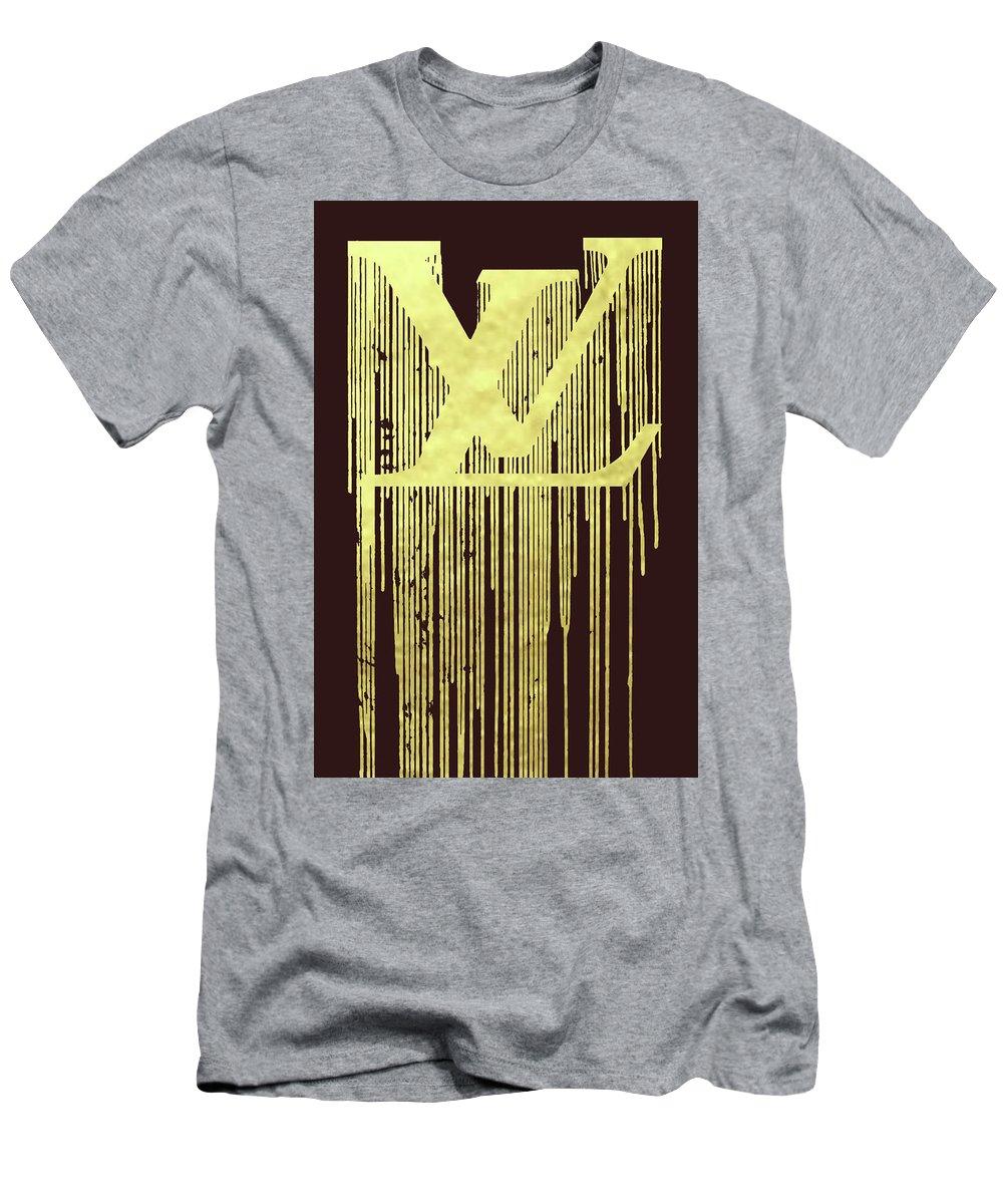 5f65f6b2b5e8 Louis Vuitton Men s T-Shirt (Athletic Fit) featuring the painting Louis  Vuitton Logo