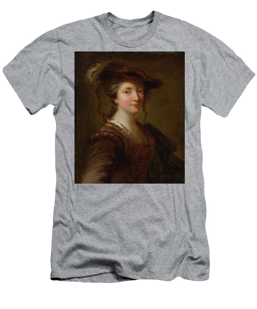 Alexis Grimou (french Baroque Era Painter Men's T-Shirt (Athletic Fit) featuring the painting Louise Julie December by MotionAge Designs