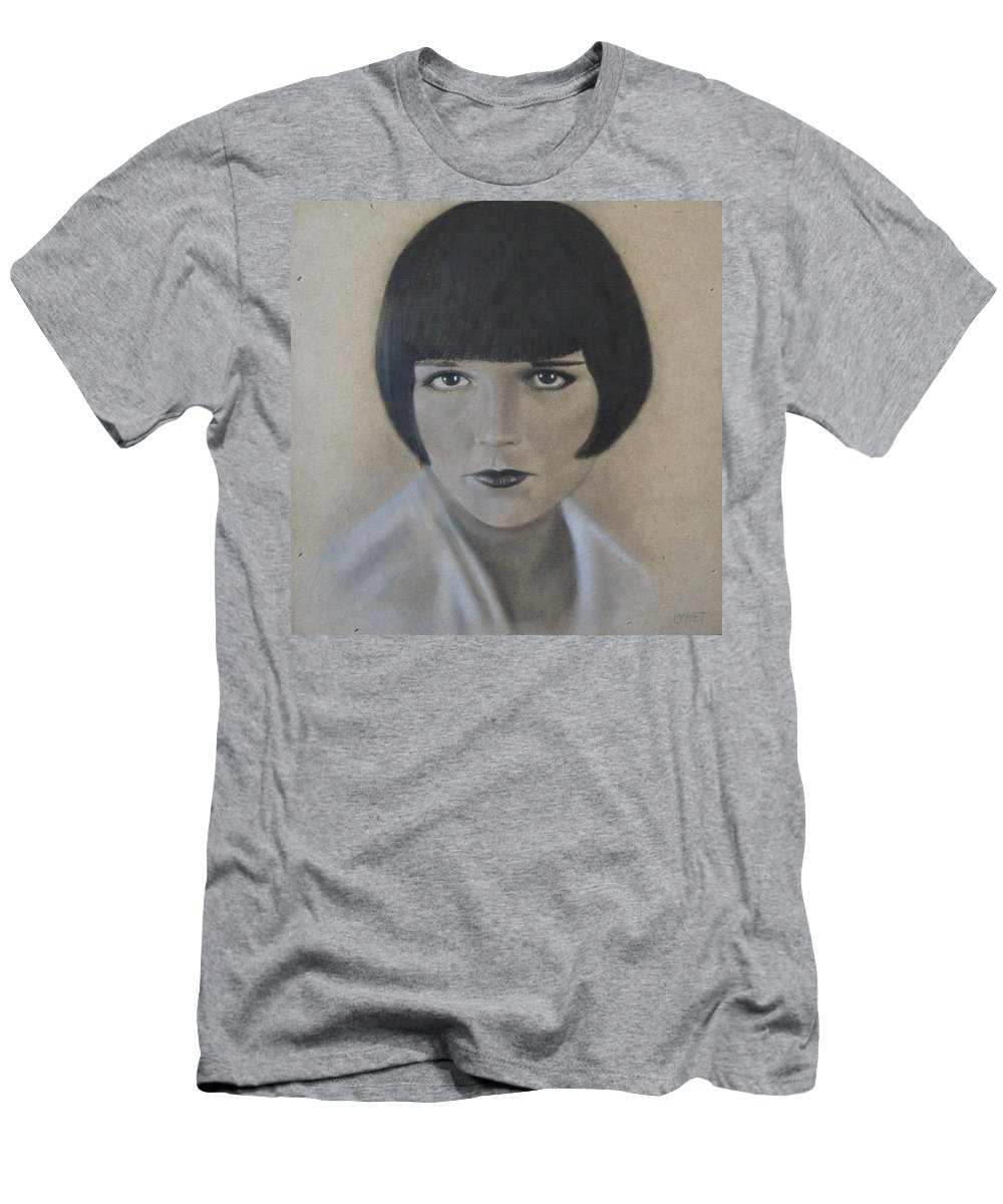 Woman Men's T-Shirt (Athletic Fit) featuring the painting Louise by Lynet McDonald