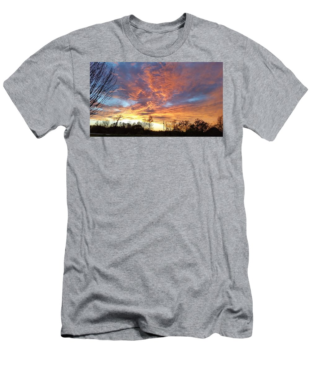 Louisiana Men's T-Shirt (Athletic Fit) featuring the photograph Louisiana Sunset 1 by Adele Fulcher