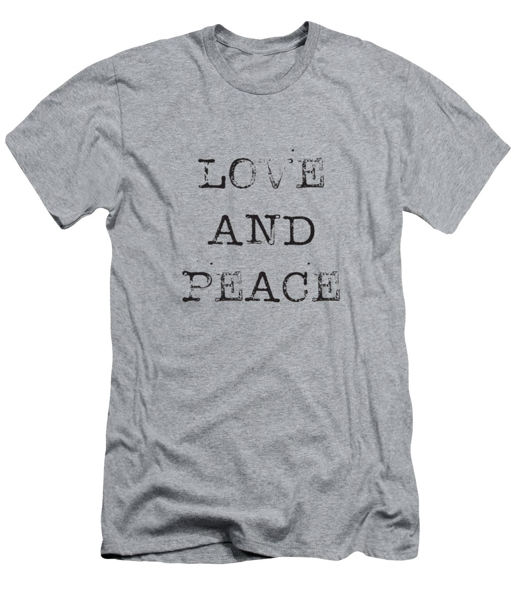 Love Men's T-Shirt (Athletic Fit) featuring the digital art Love And Peace by Kathleen Wong