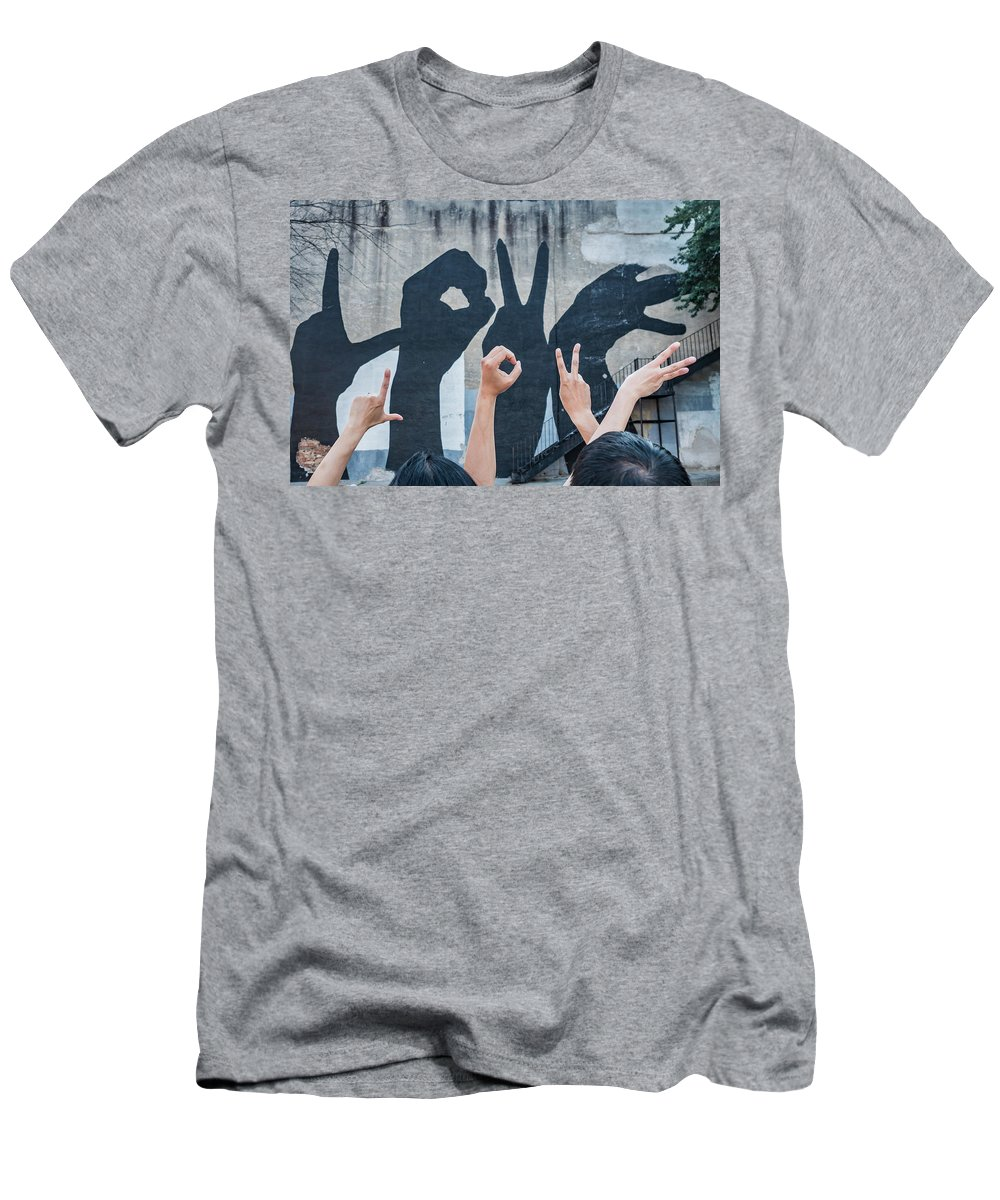 Nick And Deb Men's T-Shirt (Athletic Fit) featuring the photograph Love by David Wissman