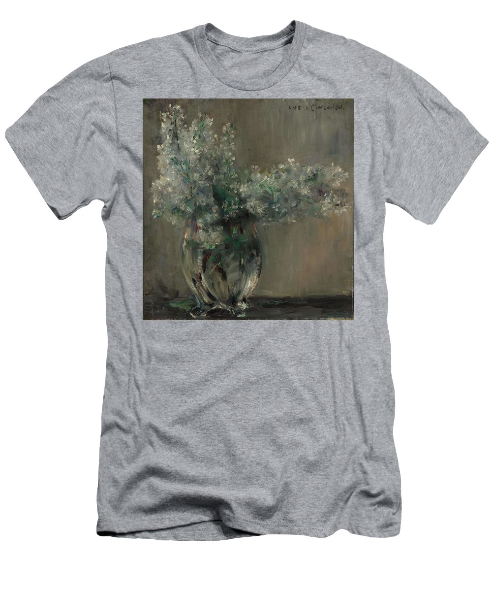 Flower Men's T-Shirt (Athletic Fit) featuring the painting Lovis Corinth Ostpreussen 1858 - 1925 Zandvoort Still Life With White Lilacs. by Lovis Corinth