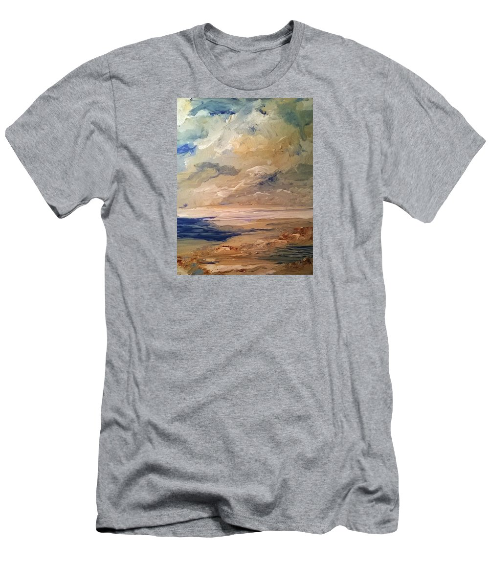 Ocean Men's T-Shirt (Athletic Fit) featuring the painting Low Tide by PJ McNally