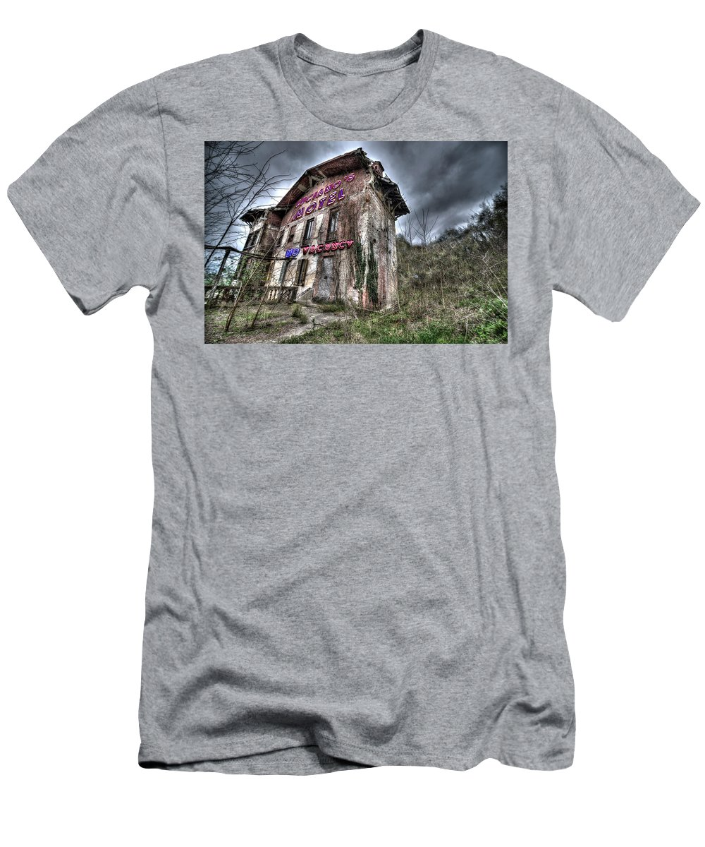 Motel Men's T-Shirt (Athletic Fit) featuring the photograph Luciano's Motel by Enrico Pelos