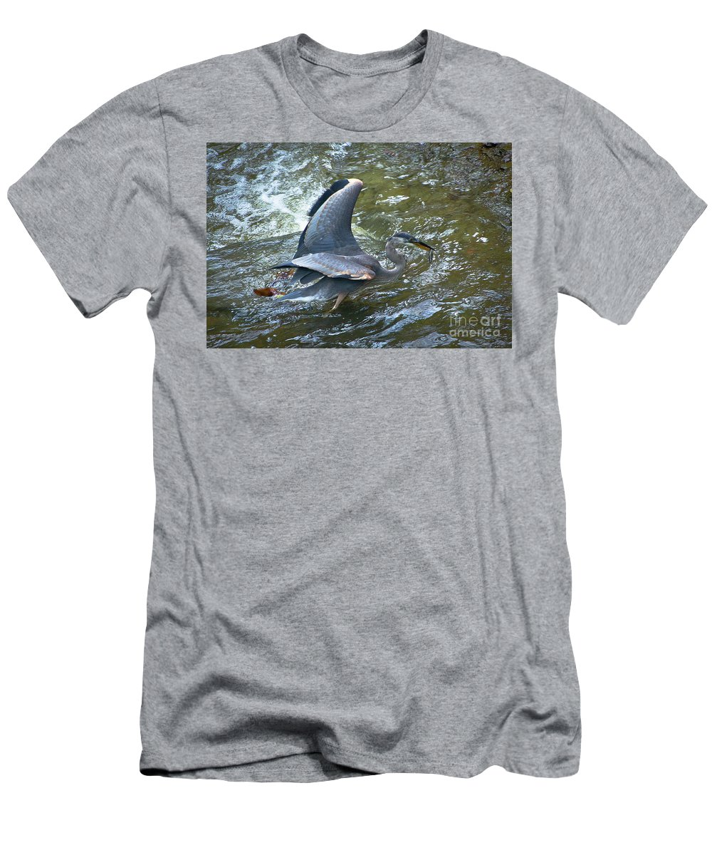 Fish Men's T-Shirt (Athletic Fit) featuring the photograph Lunchtime by Wayne Heim