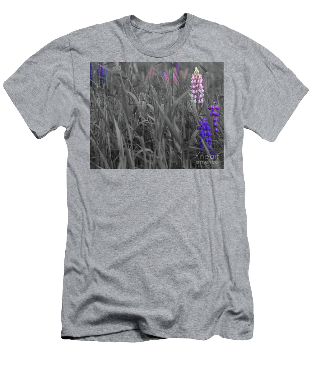 Canada Men's T-Shirt (Athletic Fit) featuring the photograph Lupins 30 by Rodger Wilkie