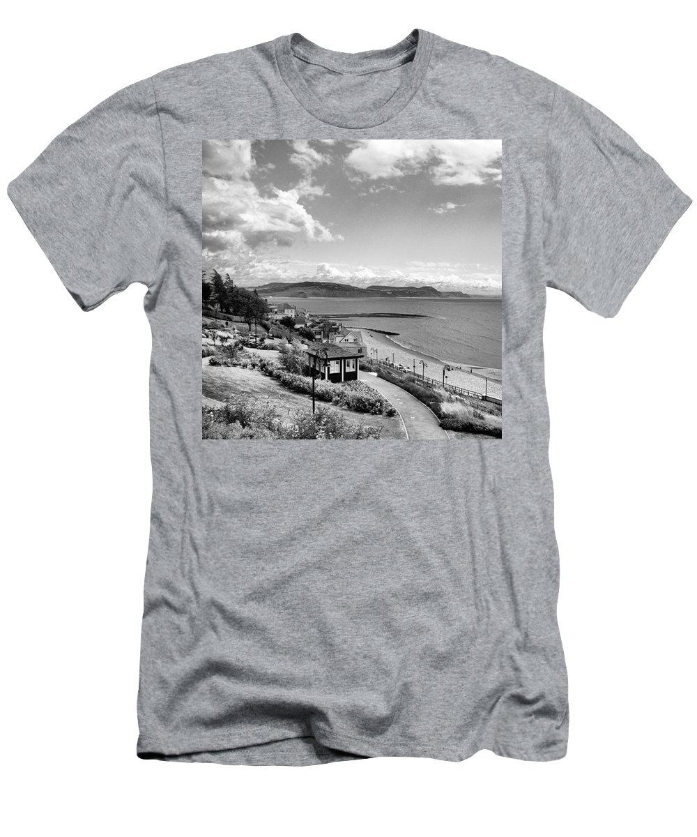 Blackandwhitephotography T-Shirt featuring the photograph Lyme Regis And Lyme Bay, Dorset by John Edwards