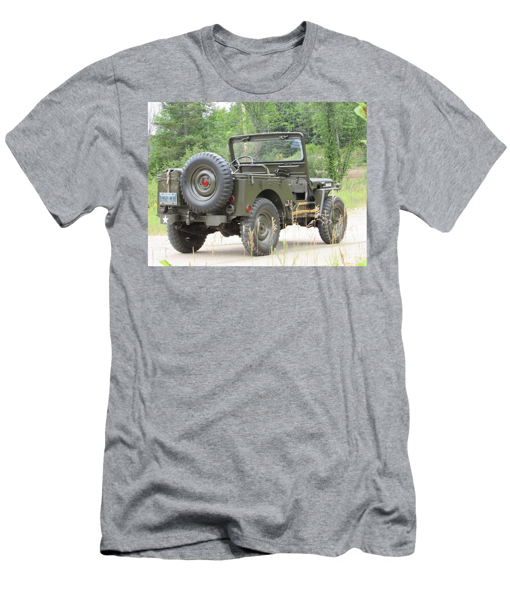 Jeep Men's T-Shirt (Athletic Fit) featuring the photograph M38 by Juli Kreutner