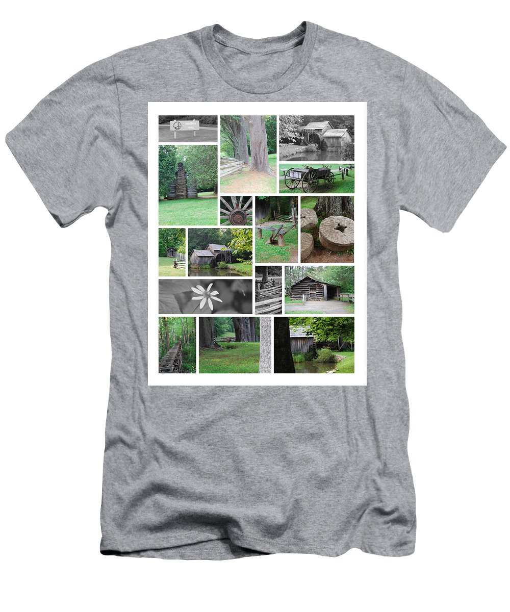 Water Men's T-Shirt (Athletic Fit) featuring the photograph Mabry Mill by Eric Liller