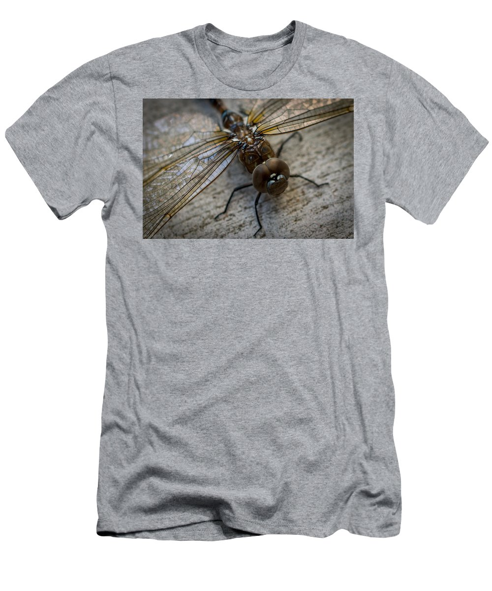 Dragonfly Men's T-Shirt (Athletic Fit) featuring the photograph Macro Dragonfly by Stan Townsend