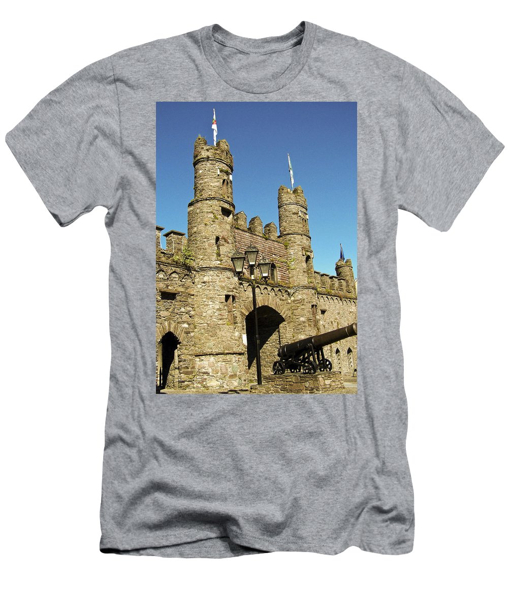 Irish Men's T-Shirt (Athletic Fit) featuring the photograph Macroom Castle County Cork Ireland by Teresa Mucha