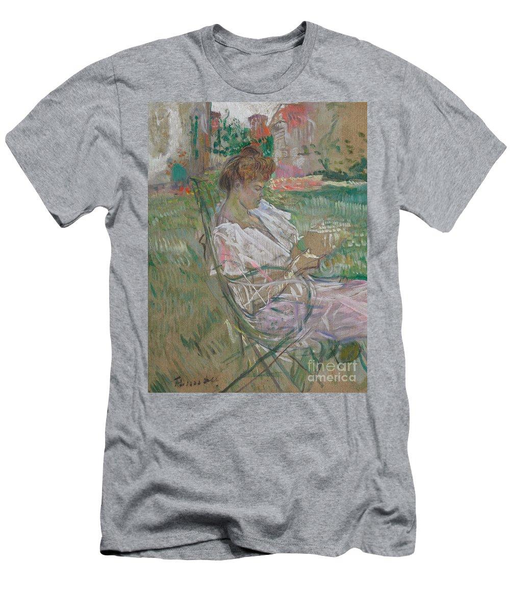 Madame Misia Natanson Men's T-Shirt (Athletic Fit) featuring the painting Madame Misia Natanson by Henri de Toulouse-Lautrec