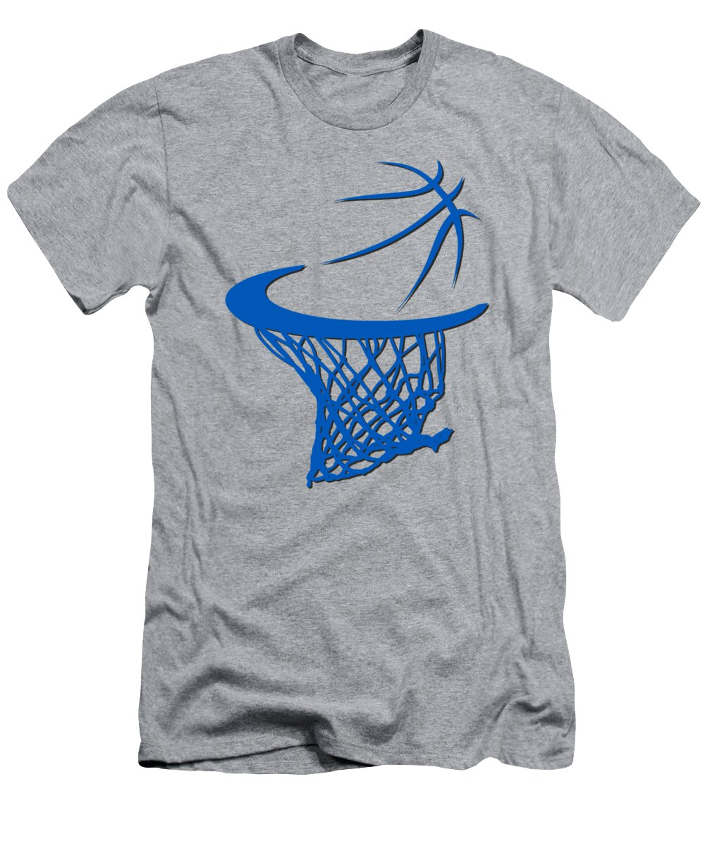 Magic Men's T-Shirt (Athletic Fit) featuring the photograph Magic Basketball Hoop by Joe Hamilton