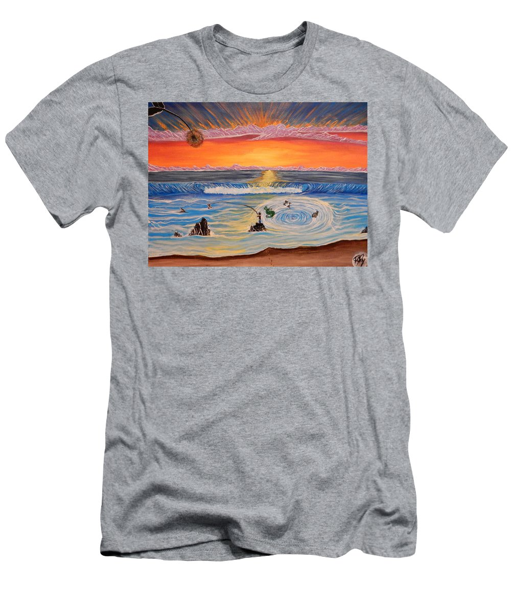 Ocean Men's T-Shirt (Athletic Fit) featuring the painting Make A Wish by Ryan Rinard