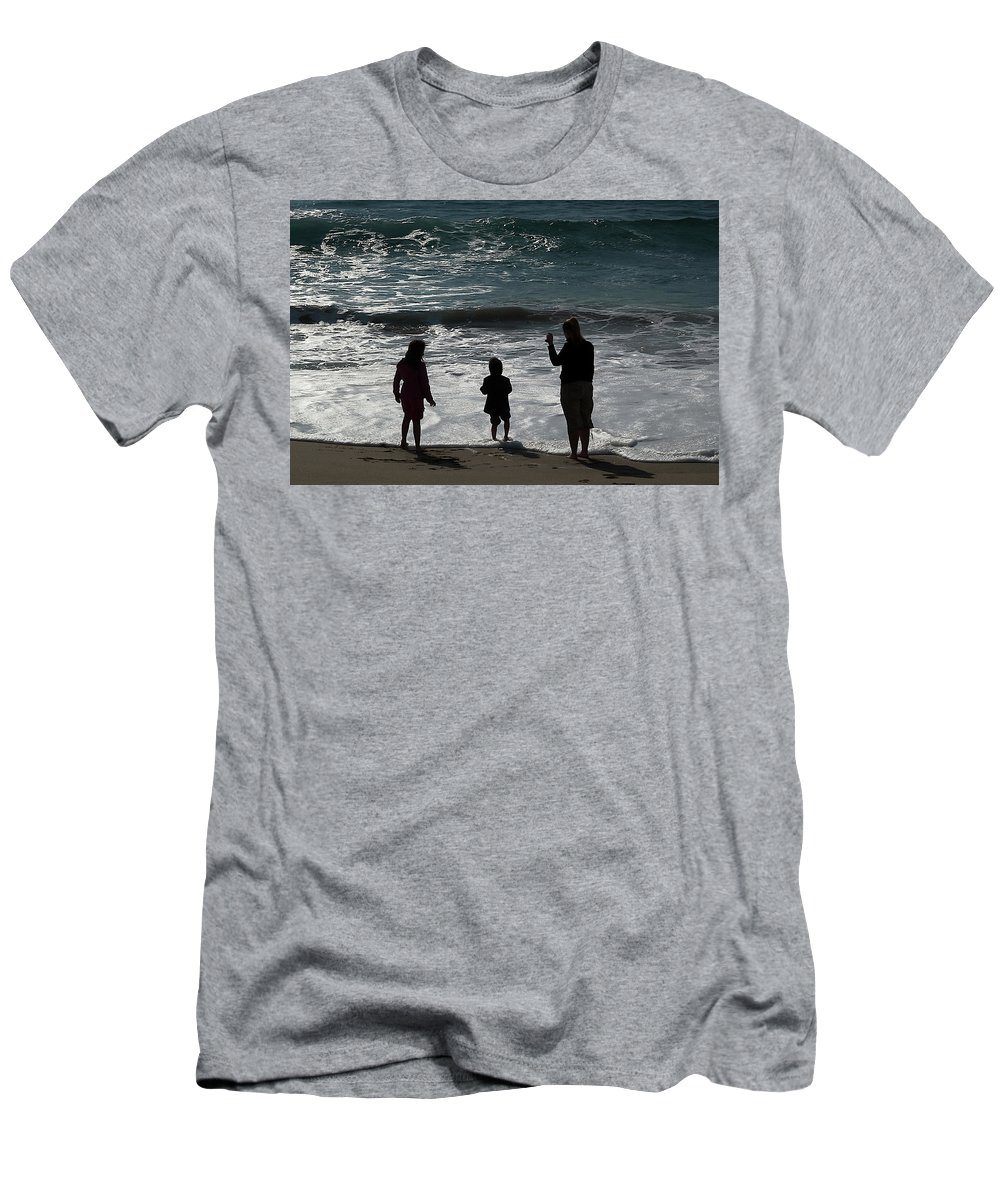 Family Men's T-Shirt (Athletic Fit) featuring the photograph Making Memories by Jay Billings
